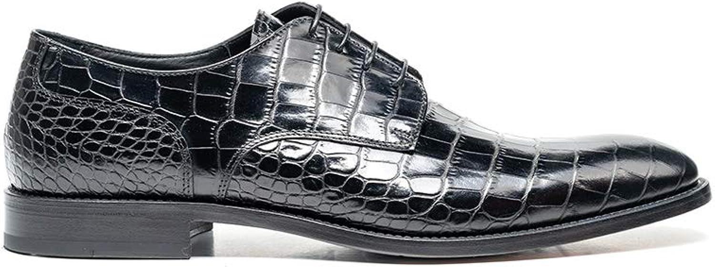 Frank krokodilmuster schwarz - Handgefertigt von Design Italian Shoes (Dis) B07PC245BX  | Qualifizierte Herstellung