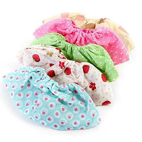 6Paar Vlies Stoff floral Muster Rutschfeste Schuh Bezüge atmungsaktiv Dicker wiederverwendbar Überschuhe Staubfrei, Bodenschoner Schuhüberzieher Farbe zufällige