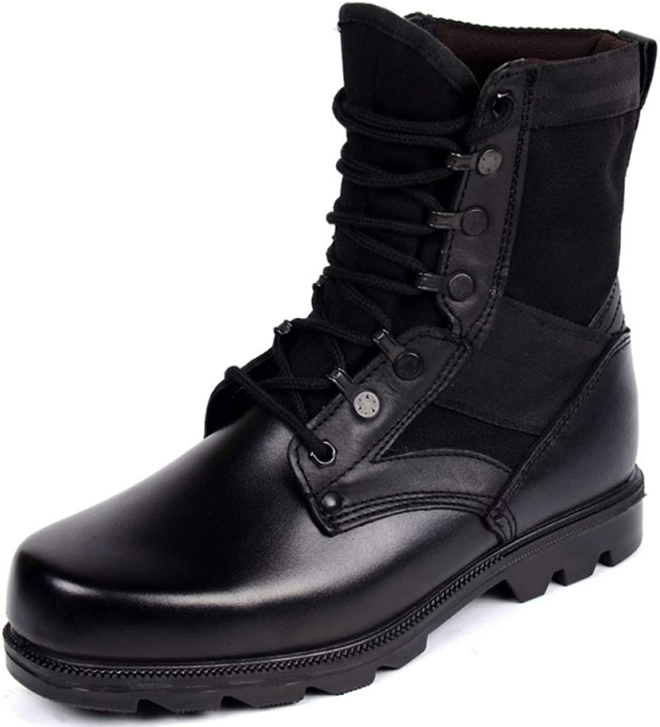Mens Special Forces Military Police Army Combat Boots Outdoor Mountaineering High Top Leather Martin shoes Comfortable Footwear