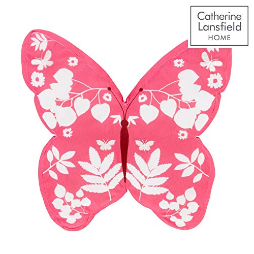 Catherine Lansfield Butterfly 3D Filled Cushion Pink