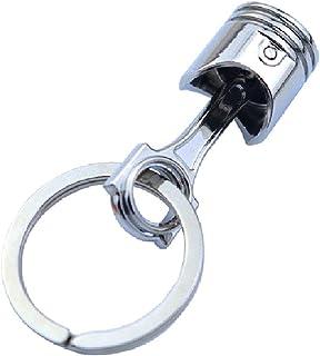 BMBN Auto zuiger sleutelhanger, motor zuiger sleutelhanger gepolijst metaal creatieve auto accessoires sleutelhanger uniek...