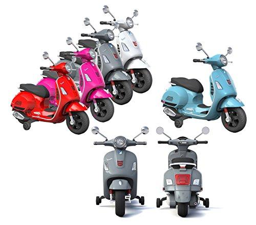 Mediawave Store Moto elettrica Piaggio per Bambini Vespa GTS B70592 con rotelle 12V luci LED
