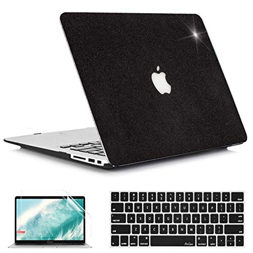 QYiD MacBook Pro 15 inch Case 2019 2018 2017 2016 Release A1990 A1707, Plastic Hard Shell Bling Crystal Case Cover with Keyboard Cover & Screen Protector for MacBook Pro 15 Touch Bar, Black