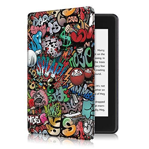 Fmway Funda Cuero Carcasa con Soporte Función y Auto Sueño/Estela para Amazon Nuevo Kindle Paperwhite 10.ª generación - Modelo de 2018(no Compatible con 2012, 2013, 2015 y 2016)