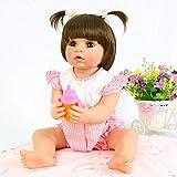 Pursue Baby Bebe Reborn Vinilo Cuerpo Entero 22 Pulgadas 55 cm munecas Reborn Reales Abby muñeca Bebe niña Set de Ocho Piezas