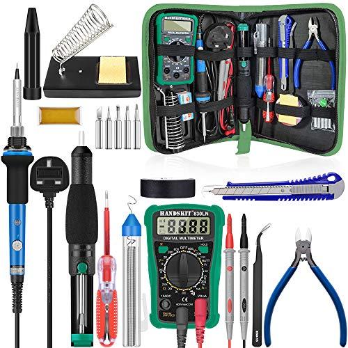 Lötkolben-Set, Upgraded Schweißen Bügeleisen Werkzeug, blau