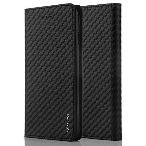 LCHULLE Hülle für Samsung Galaxy S10 Lite/A91 Lederhülle 2 in 1 Schutzhülle PU Leder Flip Tasche Klapphülle TPU Handyhülle Handytasche Brieftasche Schwarz