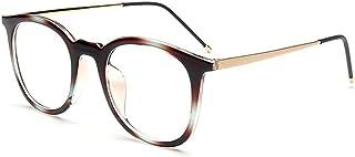 79eec41187 XIAMEND Gafas Vintage Color Tendencia Gafas sin prescripción para Mujer  Hombre. (Color : Multi