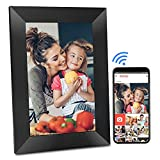 BIHIWOIA WiFi Digital Picture Frame 8 Inch Digital Photo Frame with 16GB Storage, IPS Touch Screen HD Display, Auto-Rotate, Share Photos and Videos via Frameo App(Black