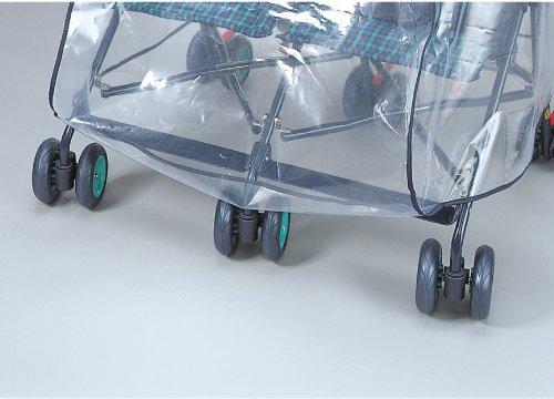 スマートスタートベビーカー用レインカバー二人乗り横並びツイン