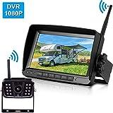 LeeKooLuu 1080P Digital Wireless Backup Camera 7'High-Speed Observation DVR...