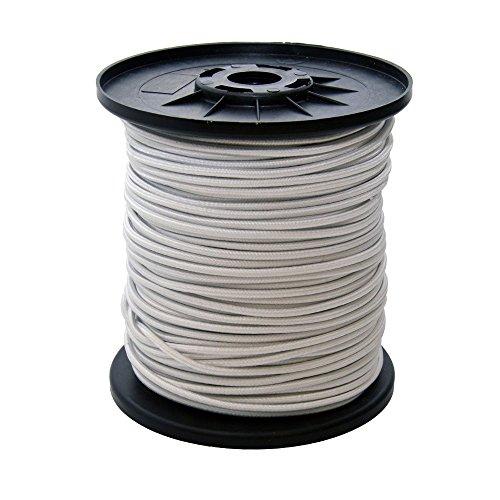 Corda elastica in gomma per tendoni, lunghezza 30 m, spessore 8 mm, colore: bianco