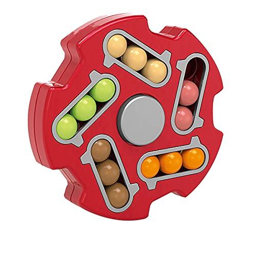 YWYU Juguetes giratorios de cubo de Rubik de frijol mágico, alivia el estrés, juguetes mágicos para niños/adultos, juguete de frijol mágico giratorio descompresión creativa