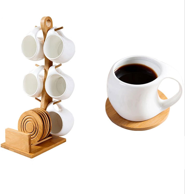 Tasse à café en céramique blanche créative et ensemble de soucoupe tasse à thé moderne minimaliste tasse à thé Tasse à thé en céramique à haute température tasse à café