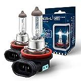 BIOLIGHT KM - H11 HYPER-L PLUS - 150% BRIGHTER THAN STANDARD - Headlight Bulb, Halogen Light Bulb, High/Low/Fog Beam Replacement Bulbs(Pack of 2) (H11 Hyper L)