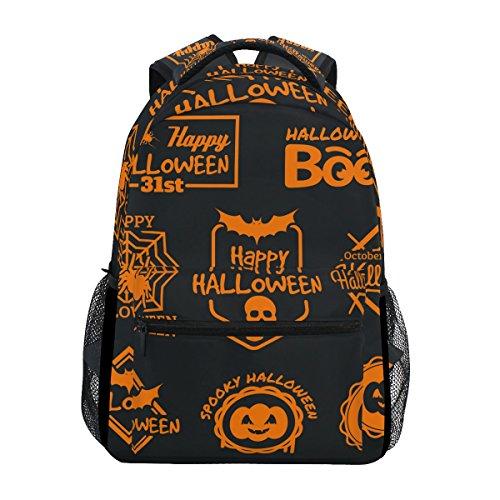 COOSUN Orange Halloween Tags Casual Backpack School Bag Travel Daypack