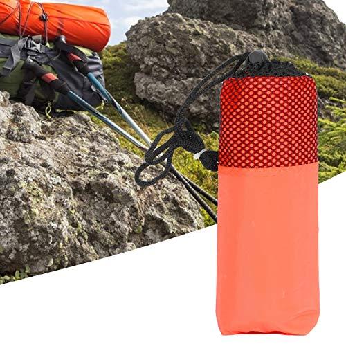 LIKJ Regenmantel, tragbarer einfach zu tragender Regenmantel mit Kapuze für Erwachsene Regenbekleidung Regenjacke für Erwachsene für Outdoor-Events(Orange)