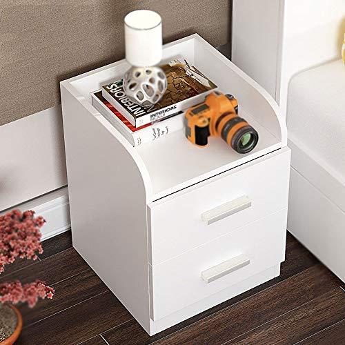LLA Bedside Table Nightstand Cabinet Wenge Bedroom Furniture Chest Drawer Storage Shelf,Weiß