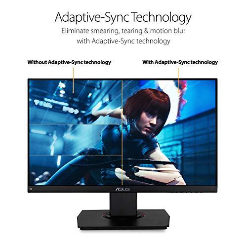 """Asus TUF Gaming VG249Q 23.8"""" Monitor 144Hz Full HD (1920 X 1080) 1ms IPS Elmb FreeSync Eye Care DisplayPort HDMI D-Sub, Black"""