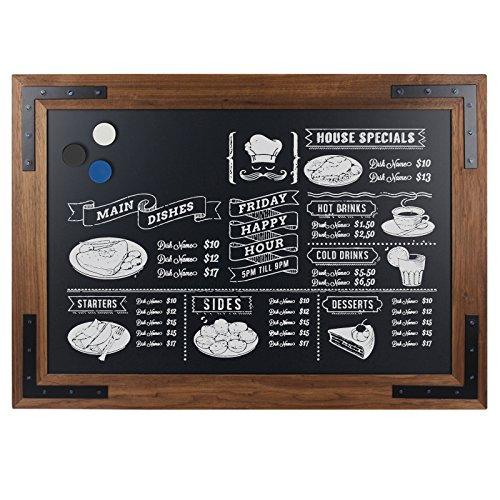 DISPLAY SALES Tableau noir en bois magnétique ardoise tableau mural Cadre en bois tableau magnétique Design Tableau bois 70x90 cm
