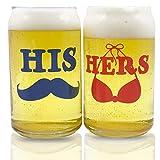 Biergläser in Dosenform, lustig und cool, einzigartiger Siebdruck für Sie und Ihn, für Bier, IPA, Wein, Wasser und andere Getränketypen, perfekt für Hochzeitsgeschenke, Brautpaare,...