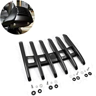 HTTMT MT502-07-BK-NO SKULL Stealth Top Luggage Rail Rack Compatible with Harley Touring Tour Paks Street Glide FLHX