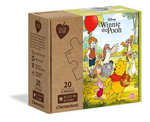 Clementoni- Disney Winnie The Pooh Puzzle da 2 X 20 Pezzi, Multicolore, 24772