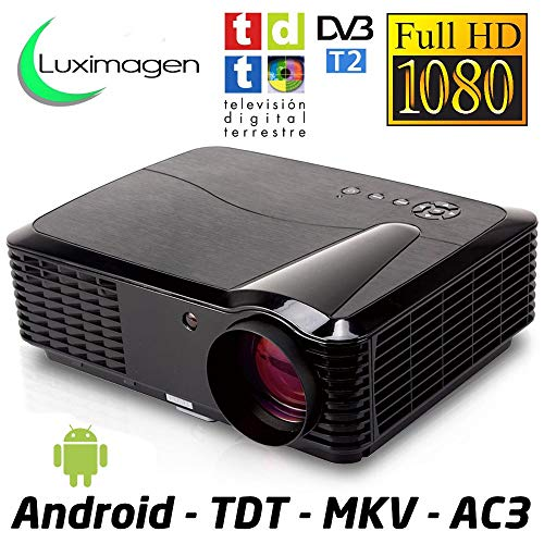 proyector Luximagen HD700 con WiFi, Android, FULLHD, TDT, USB, HDMI, AC3, 2 años de garantía