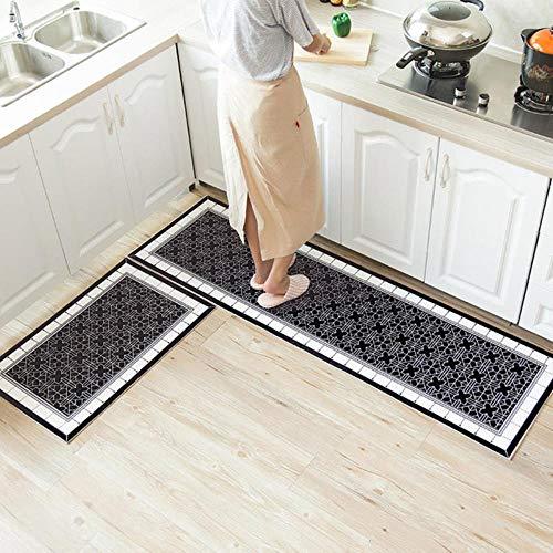 Asigo Ethnic Printed Kitchen Mat Set Dirty-Proof Long Carpet Hallway Doormat Bedside Floor Mat Non-Slip Water Absorption Bathroom Rugs,7,40x60cm 1 Piece