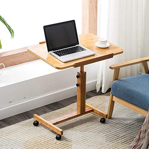 DXJNI - Mesa Auxiliar para sofá, con Ruedas, Mesa para portátil Ajustable en Altura, Escritorio Cama Ajustable multifunción, Utilizado para el balcón de la Sala de Estar de la Oficina