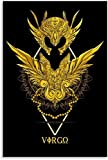 HuGuan Mural con Estampado De Arte Taza Caballero Zodiaco Ilustración Cómic Sala Estar Decorativa 23.6'X35.4'(60X90Cm) Póster Lienzo Pintura Pared Sin Marco