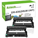 AZTECH Compatible Drum Unit Replacement for Brother DR630 DR-630 Drum (Black, 2-Packs)
