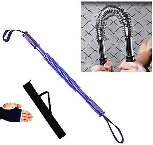 DGL Federgriffe Arm-Stärke Brawn Trainingsgerät + Handschutz + Aufbewahrungstasche (blau) Fitnessgeräte-Arm-Stärke 40kg Muskelrolle (Farbe: blau)