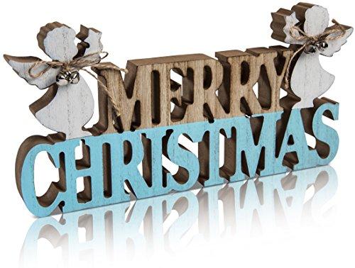 CHICCIE Décoration de Noël avec Canard Merry Christmas 34 cm