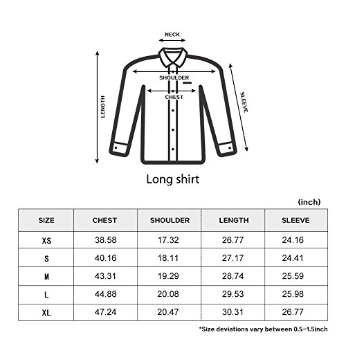 LOCALMODE Men's Military Slim Fit Dress Shirt Casual Long Sleeve Button Down Dress Shirts Army Green M