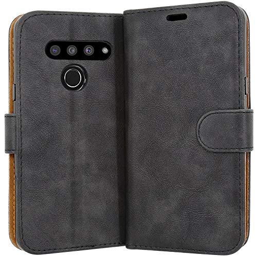 Case Collection Hochwertige Leder hülle für LG V50 ThinQ Hülle (6,4