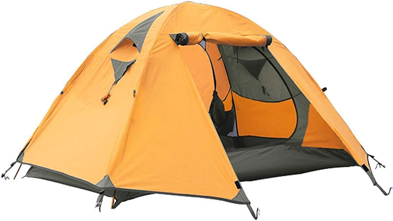 BJYG Zelt Outdoor Aluminium Pole Camping 3-4 Personen Gegen Regen Winddicht Camping Bergsteigen (Farbe  Orange)