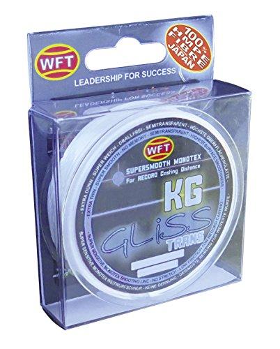 WFT Gliss KG Monotex Line 300m, geflochtene Schnur, Meeresschnur, Angelschnur, Geflechtschnur, Farbe:Transparent, Durchmesser/Tragkraft:0.12mm /6kg Tragkraft