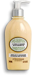 L'Occitane Almond Conditioner with Almond Oil for All Hair Types, 8.1 Fl Oz