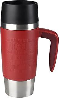 comprar comparacion Emsa Travel Mug Handle Taza Termo, Acero Inoxidable/Silicona, Rojo/Plateado, 0.36 L, 1 Unidad