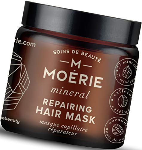 Moerie Mineral Hair Growth & Repair Mask – Restorative Treatment Hair Mask – Hair Treatment For Longer, Thicker, Fuller Hair - Vegan Hair Products – Paraben Free Hair Products – 3.4 oz (96.4g)