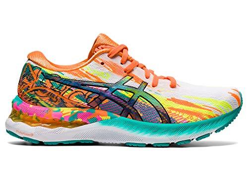ASICS Women's Gel-Nimbus 23 Running Shoes, 5.5M, HOT Pink/Sour Yuzu