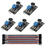 Sunhokey Sound Detection Sensor Module LM393 Chip Electret Microphone for Arduino,40Pin Male to Female Jumper Wire