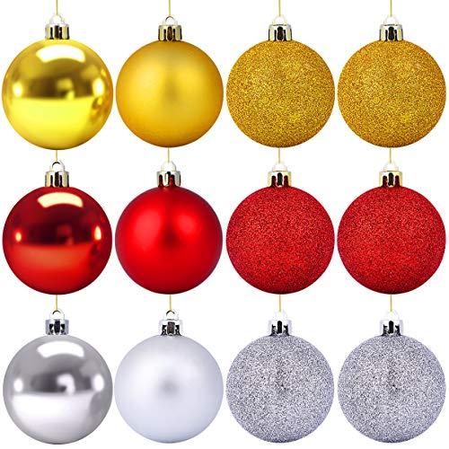 SUPVOX Lot de 36 boules de Noël suspendues pour décoration de sapin de Noël 6 cm