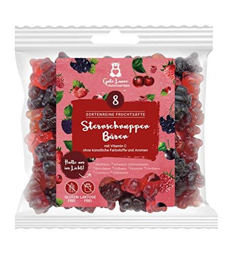 naschlabor x Fruchtsaftbär mit Herz   Rote Sternschnuppen   20{79f100d17da66fe6bf0c813a4a13d8c83492d166f9cc0a81fb5021cb397a31fb} sortenreine Fruchtsäfte   Ohne künstliche Farbstoffe und Geschmacksverstärker  Gluten- und Laktosefrei