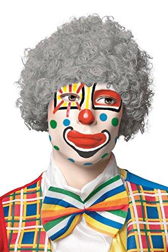 P'TIT Clown re68053 - Perruque pop gris
