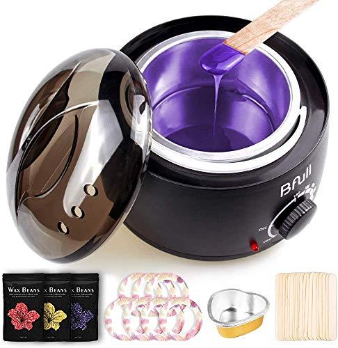Wachswärmer, BFULL Wachs Haarentfernung mit Wachsbohnen, 20pcs Applikatoren für das Wachs Schmerzfrei waxing kit