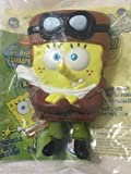 SpongeBob SquarePants Lost in Time Airplane Pilot Aviator Nickelodeon Burger King Kids Meal Figurine Toy 2005