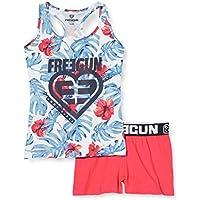Freegun EF.fgalo.psh.MZ Pijama, Blanco (Blanc/Rose Blanc/Rose), 14 años para Niñas