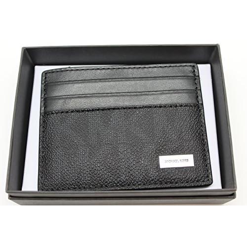 9c28a4420e74 Michael Kors Mens Slim Leather Card Case Wallet